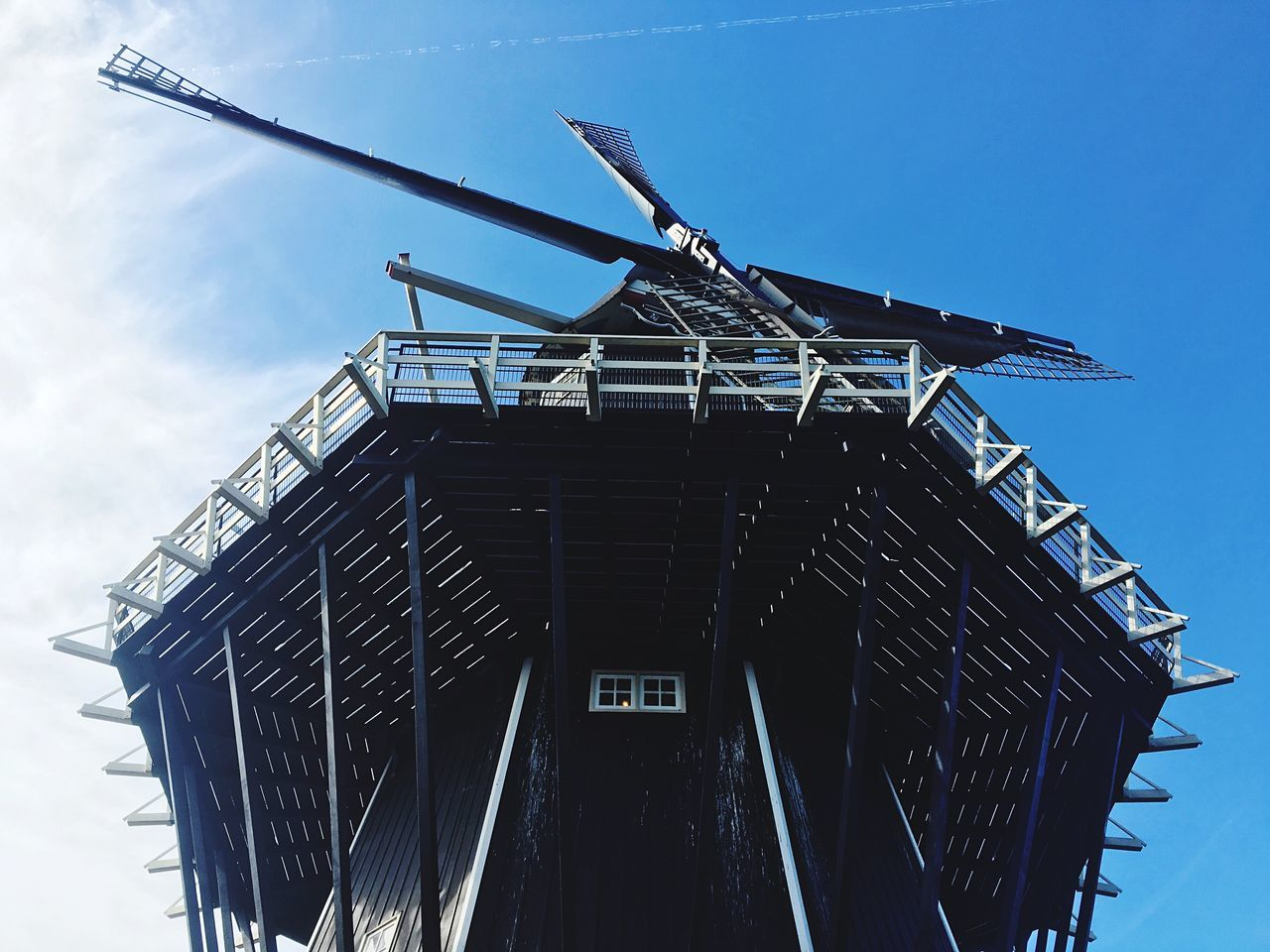 Iphonephotography IPhone Photography IPhoneography Windmill Low Angle View Built Structure Building Exterior Architecture Sky Outdoors No People Day Renewable Energy