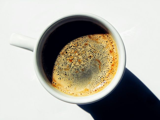 Drink Coffee - Drink Coffee Cup Food And Drink Frothy Drink Refreshment Espresso Cup No People Bubble Directly Above Latte Close-up Cappuccino Freshness Coffee Break Tea - Hot Drink White Background Indoors  Mocha Cup Of Coffee White Color Before Work Going To Work White Cup