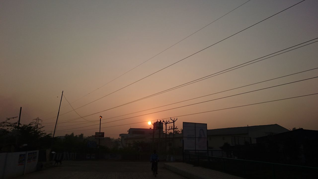 Architecture Building Exterior Built Structure Cable Day No People Outdoors Silhouette Sky Sunset The City Light