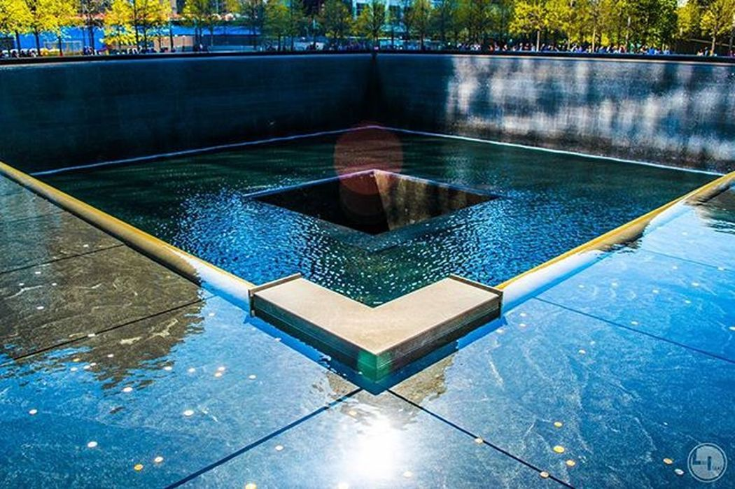 "My first time at Oneworldtradecenter GroundZero its so surreal to think that I was a freshman watching it on the news at school on 9/11 and now to see the monument and names etched in stone and the silent breeze and serenity that fills the air. NeverForget ""Likeisaac Moodygrams Agameoftones Attacktheshot Way2ill Createcommune Heatercentral Illgrammers Fatalframes Way2ill Reflectiongram Nyc_primeshot Nj Njphotographer Njphotography Newjersey VSCO Vscocam Njshooterz Jerseycollective MG5K Primeshotmag usaprimeshot globalprimesplash nightshooters wwin13nycnj_hyattts theunderdogz"
