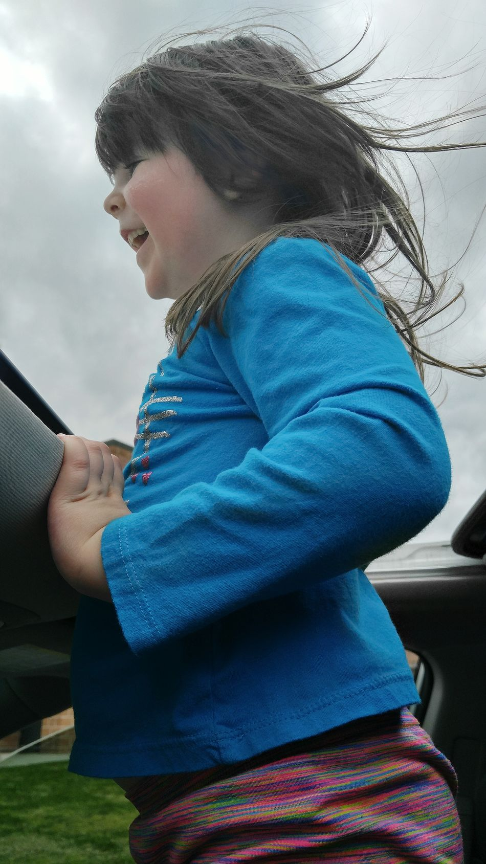 Hanging Out Enjoying Life Children's Portraits Funny Kid Child Photography Kids Being Kids Enjoying Life Windy Day Happy :) Waiting In The Car