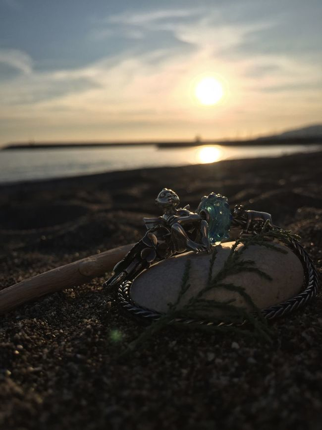 Focus Object when the sun goes down Sunset Nature Sky Outdoors Beauty In Nature Beach Sea Close-up Scenics Water Troll Wolf Trollbeads Trollbeadsitalia