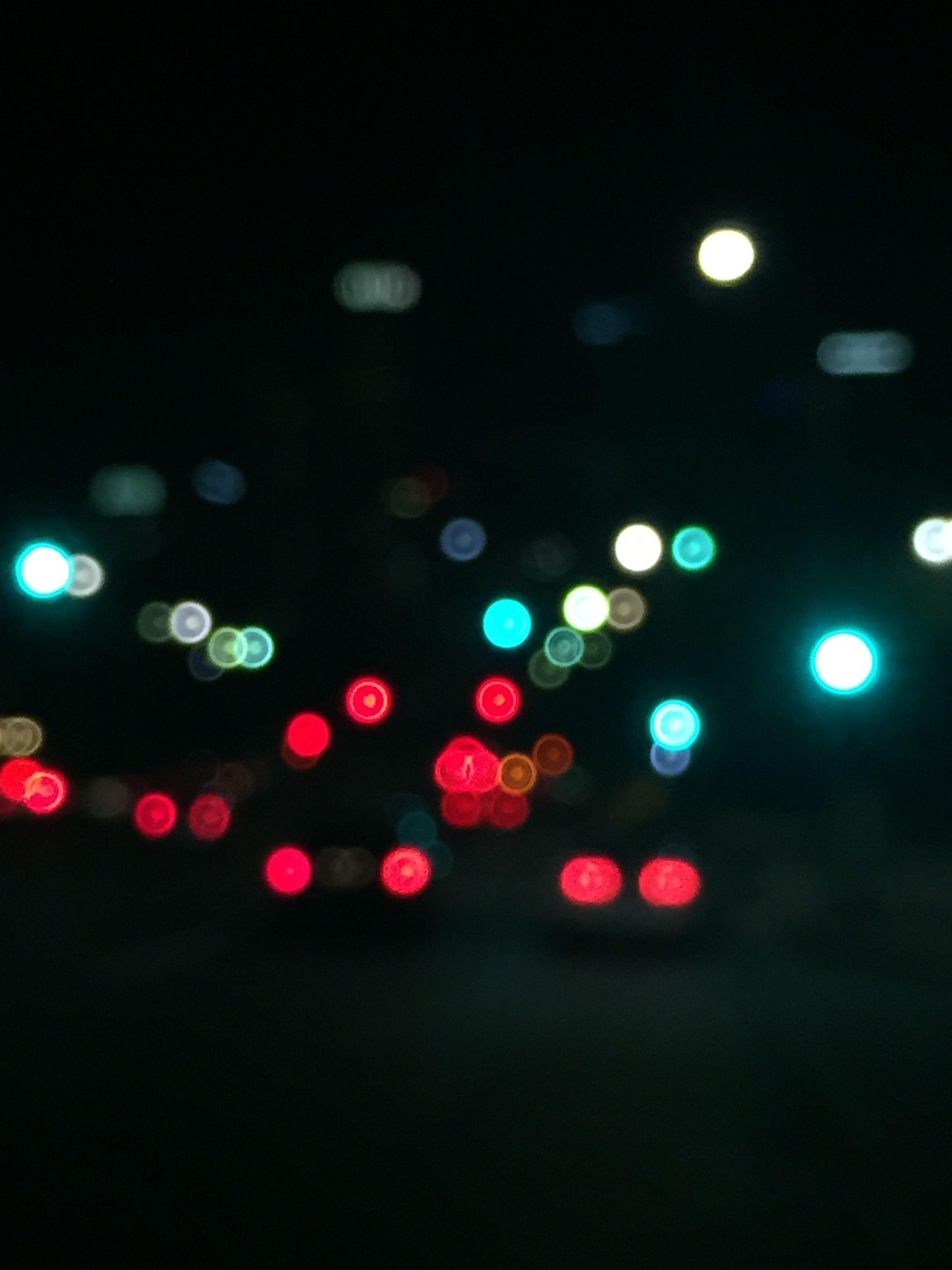 illuminated, night, defocused, lighting equipment, multi colored, light - natural phenomenon, circle, glowing, transportation, no people, street, indoors, red, abstract, road, dark, pattern, light, lens flare