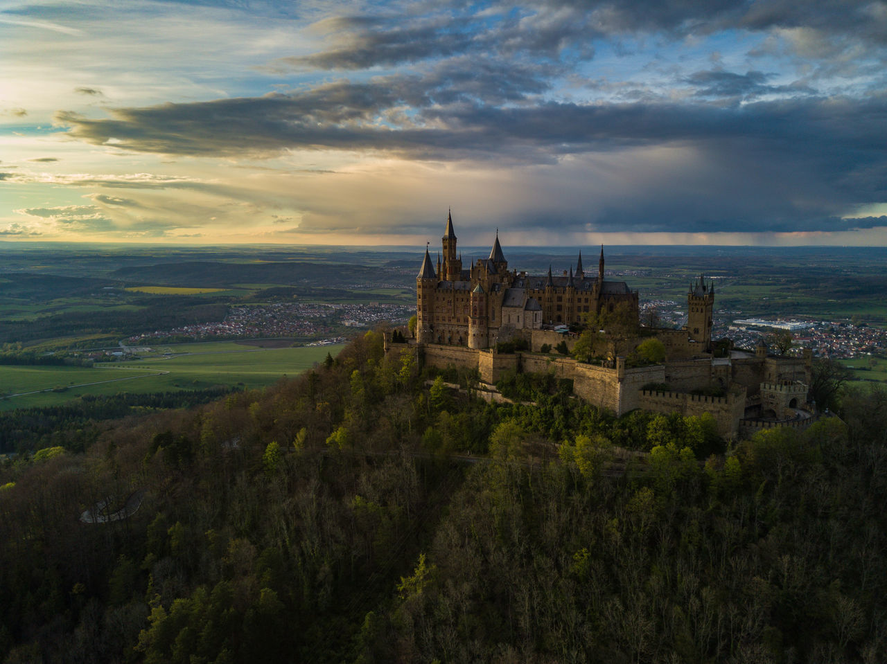 This place is real! Architecture Beauty In Nature Building Exterior Built Structure Castle Castle Cloud - Sky Dramatic Sky Drone  Dronephotography Fairytale  Fort Germany History Landscape Landscape_Collection Nature Outdoors Sky Sunset Travel Travel Destinations Warm