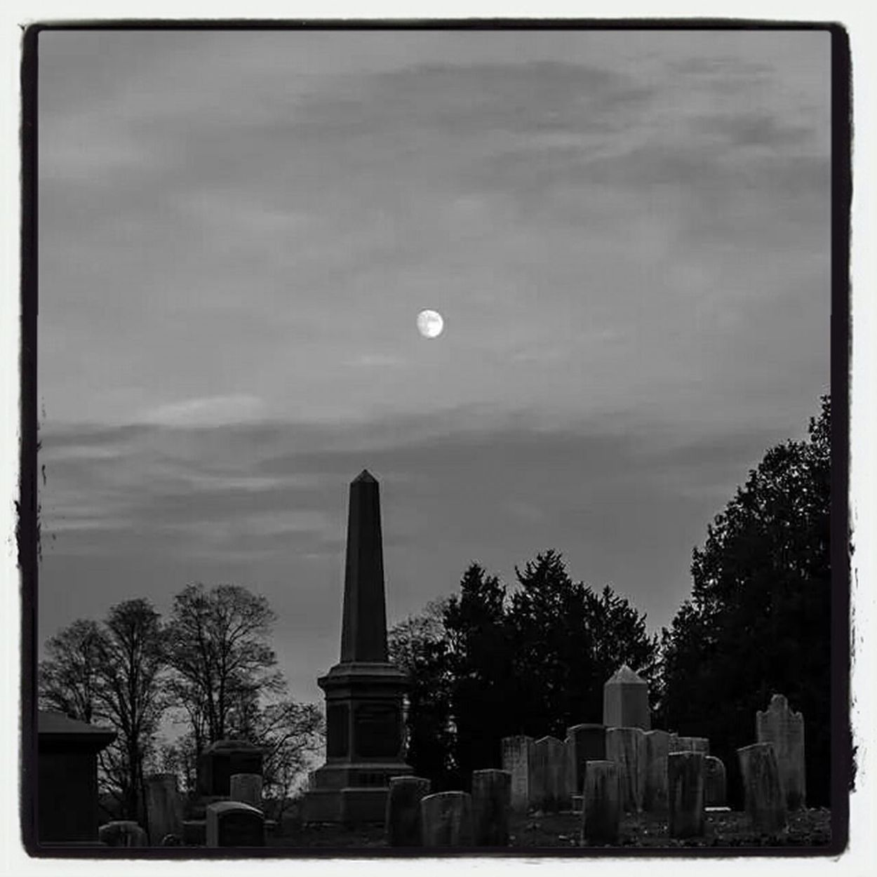 Dusk Moon First Eyeem Photo Cemeteryscape blessed monuments Tcwphotography.com