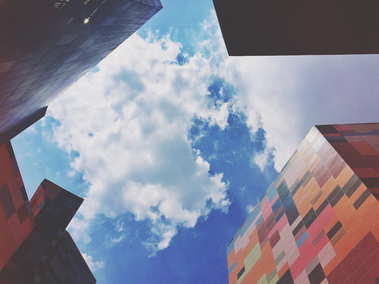 Colorful Colors The Architect - 2016 EyeEm Awards Wall - Building Feature Architectural Detail Architecture Lookingup Clouds And Sky Sky Skyporn Cloud
