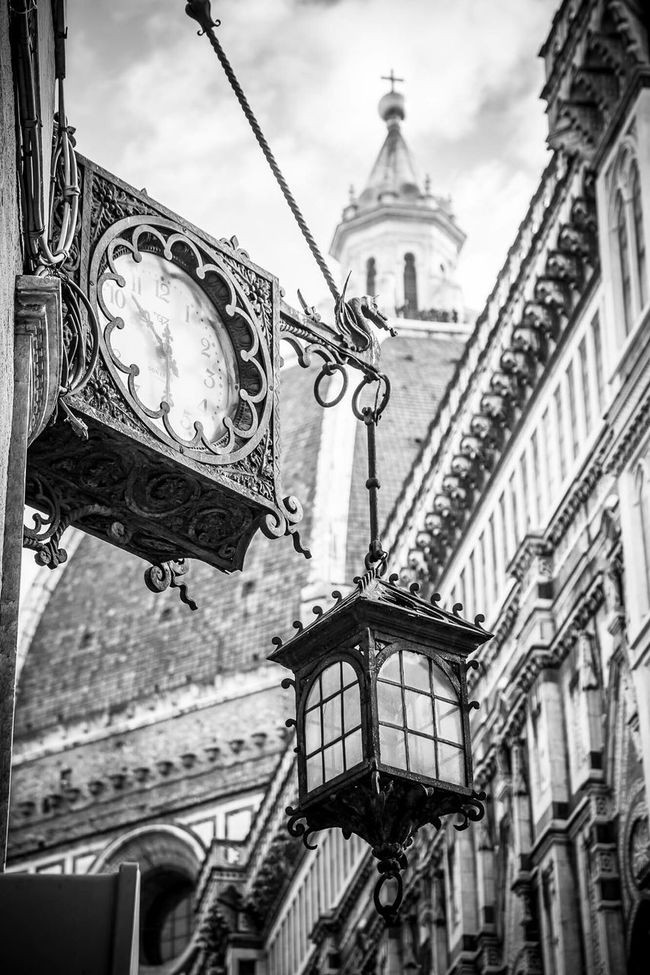 Streetphoto_bw Streetphotography Florence Italy Mycity Quality Time Watch The Clock