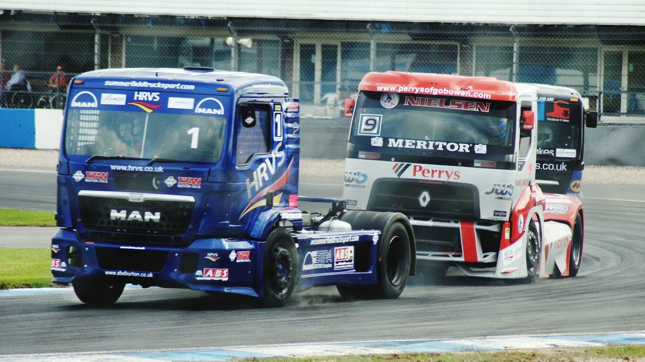 Truck racing at Donington. Race Motor Racing Truck Racing Racing Race Tracks