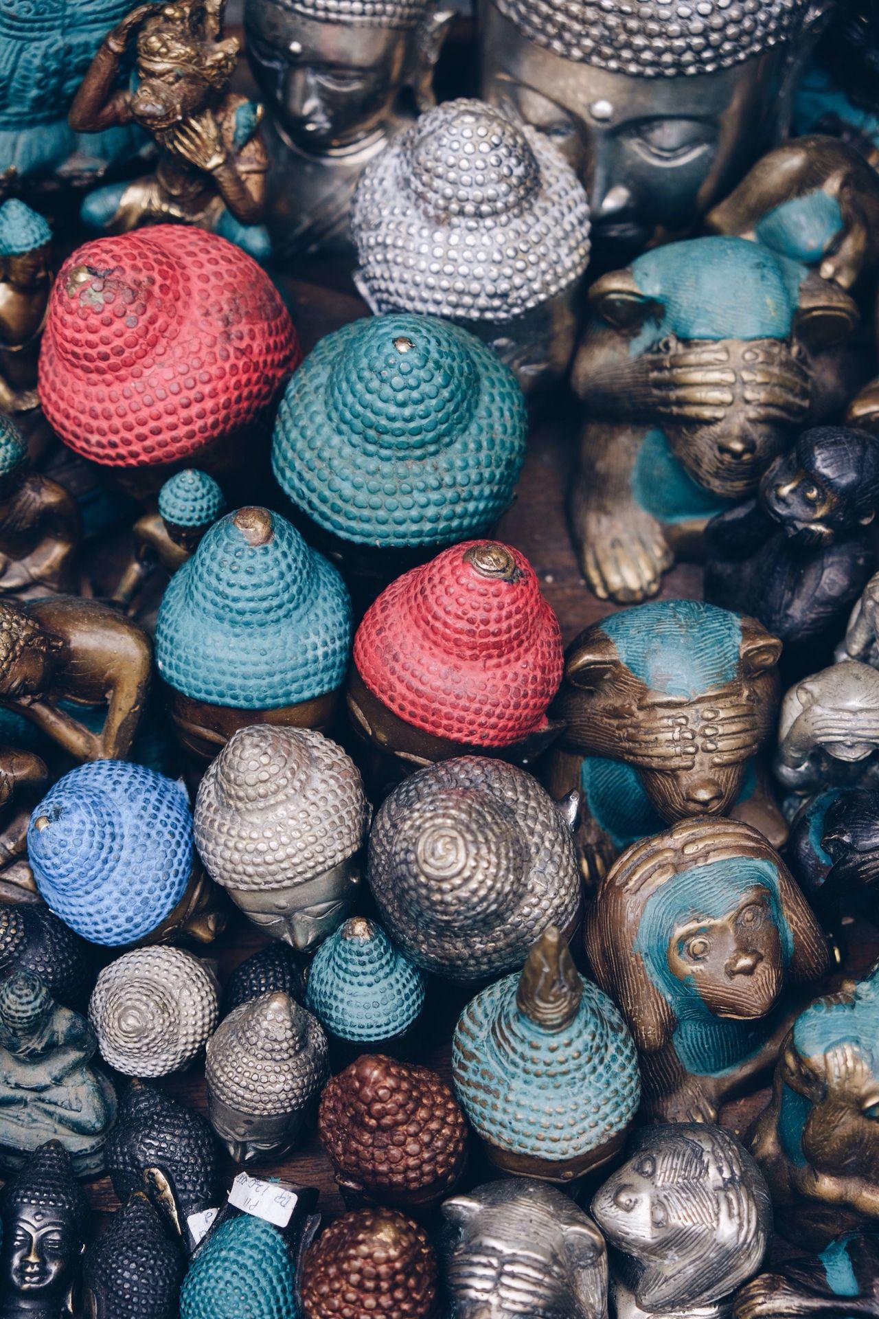 Large Group Of Objects Backgrounds Multi Colored No People Close-up Souvenir Bali Ubud INDONESIA Variation Full Frame Monkey Buddha EyeEmNewHere