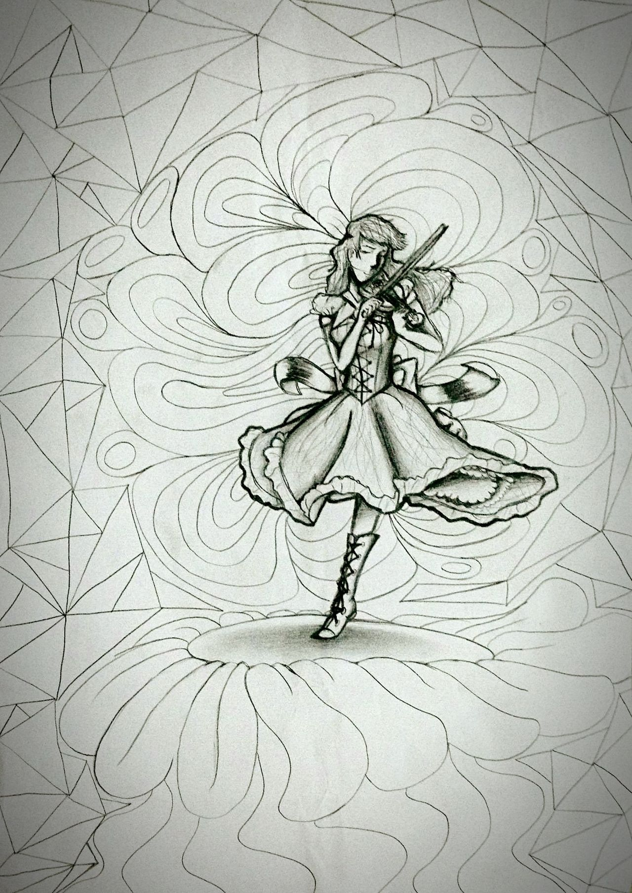 Music can change the sounds of the world around you. Violin Electric Daisy Violin And props to LindseyStirling for her music and that it inspires me to draw this. Make of it what you love or like. And remember the hills are always alive with the sound of music................................................. Thesoundofmusic