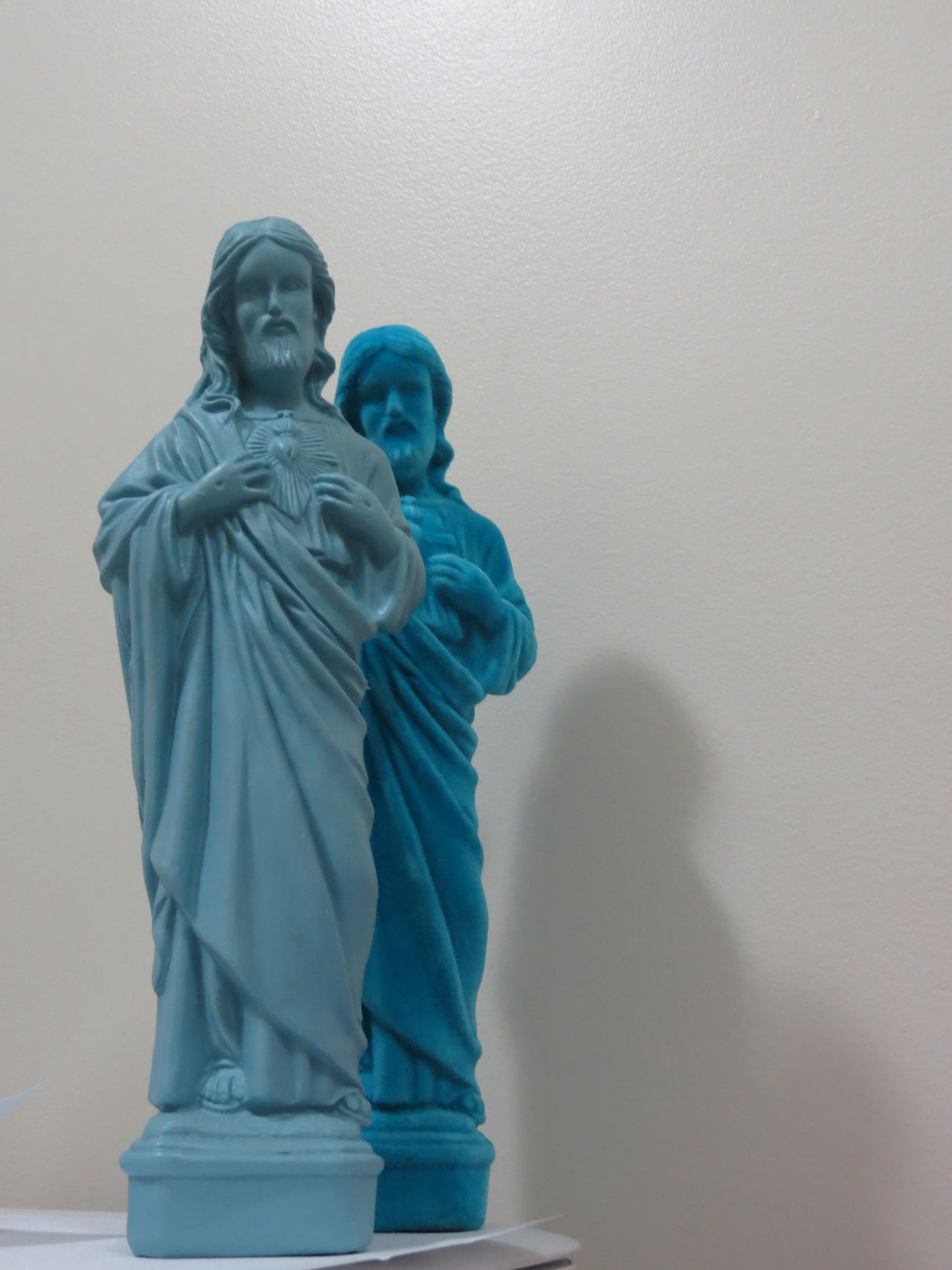 Human Representation Statue No People Indoors  Sculpture Day Shadows Christ Almighty God Legend Relic Religion Heaven Shades Of Blue Two Tones Blue Lifestyles Double Exposure Duplicate Jesus Christ Jesus Christ Close-up Statue Double Vision