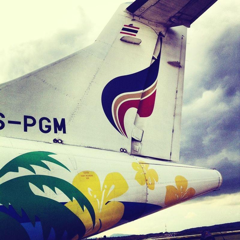 Bangkokairways Atr Traveling Plane