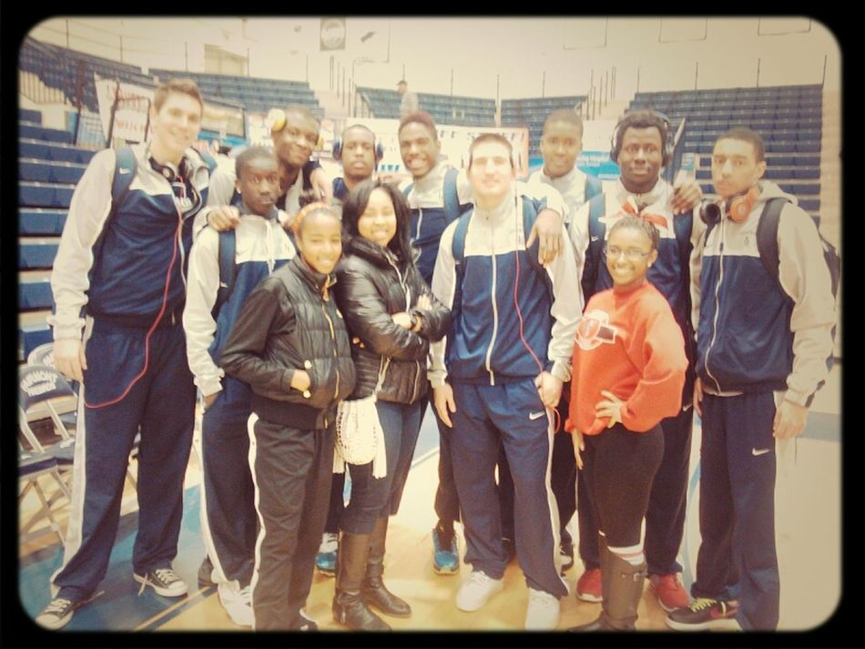 """Me and Chartice with the """"La Lumier Lakers"""" Good game boys :) Lakers Indianalakers Flyingtothehoops La Lumier"""