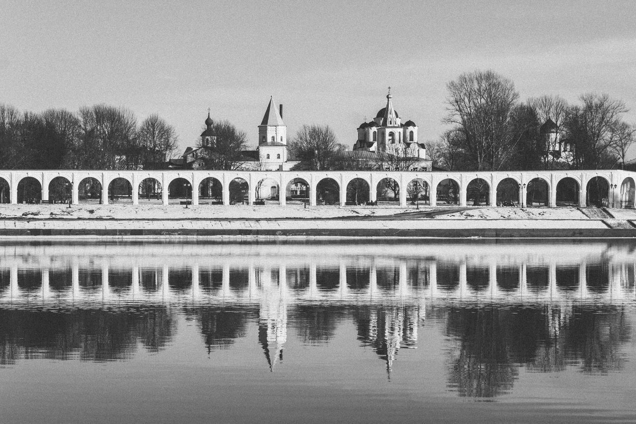 Arch Architecture Black & White Black And White Blackandwhite Building Exterior Built Structure Church Culture Day History Horizontal Symmetry Novgorod Old Buildings Outdoors Place Of Worship Religion Russia Town Travel Destinations Velikiy Novgorod