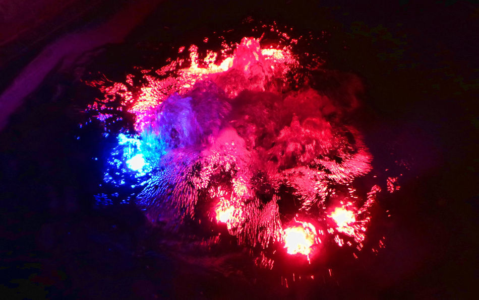 Water Lava Colour Of Life Enjoying Life Exploding Water Eyeem Collection Eyeem Colors Eyeem Water Collection EyeEm Water Shots Low Angle View Multi Colored Red Sparks Water Motions