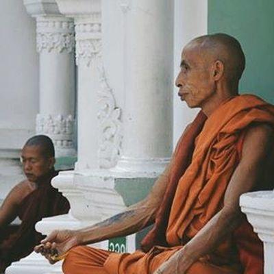 Burma Myanmar Rangoon Yangon Monks Shwedagonpagoda VSCO Vscocam Vscoeveryday Vscotravel Travelshots Everydayasia Everydaylife Portraitofaman Peoplewatching Feel The Journey
