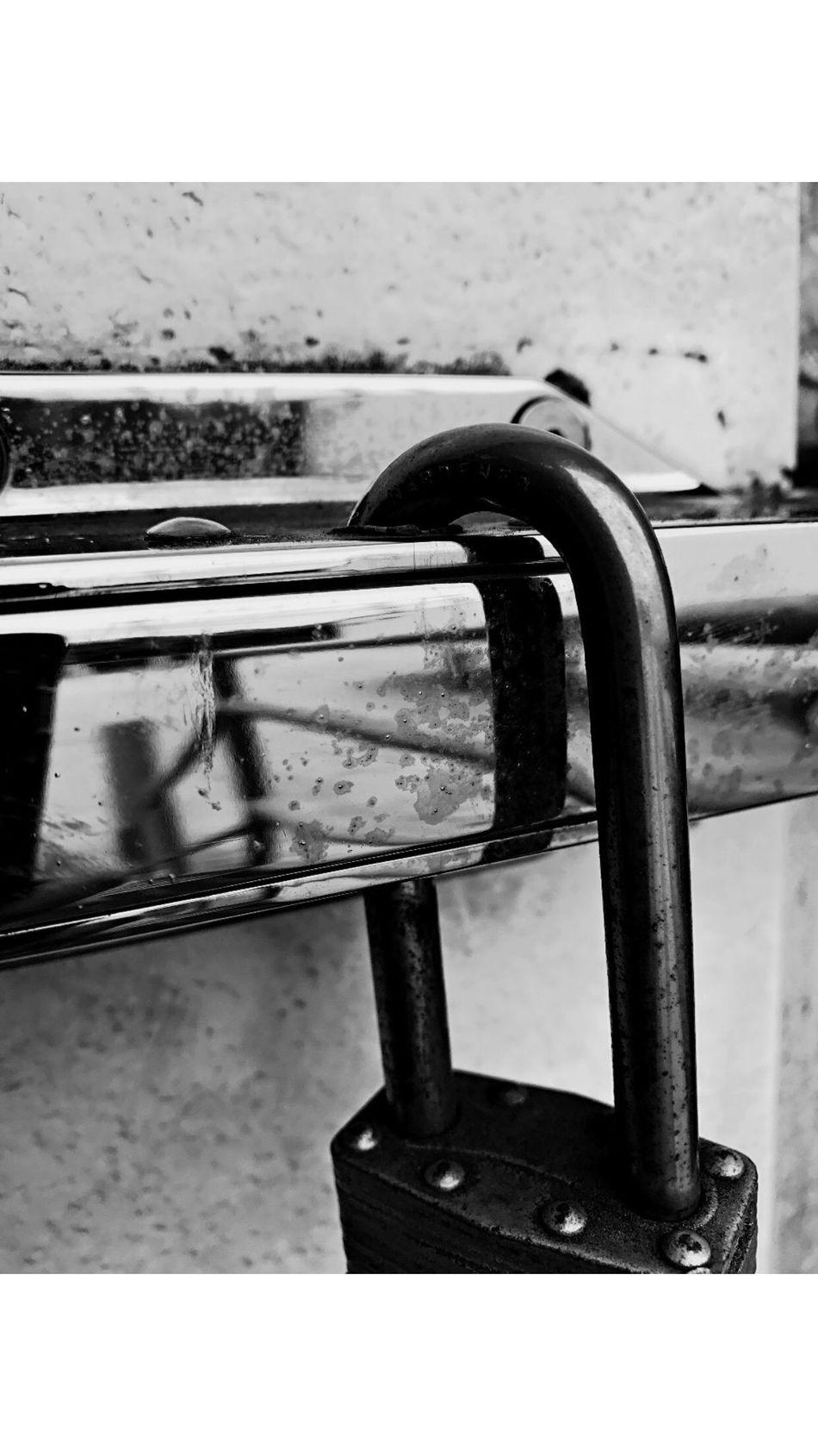 Metal Lock Close-up Blackandwhite