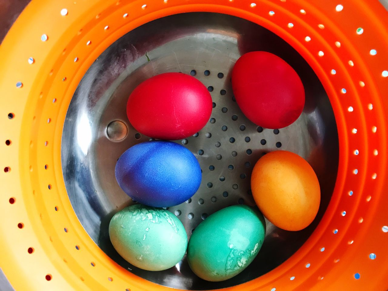 Easter Eggs Easter Easter Egg Colored Eggs Indoors  Multi Colored Preparation