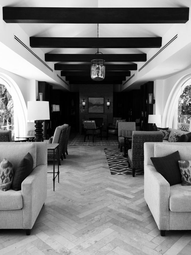 Library One&Only Palmilla Los Cabos Mexico Travel Photography Black And White Black & White