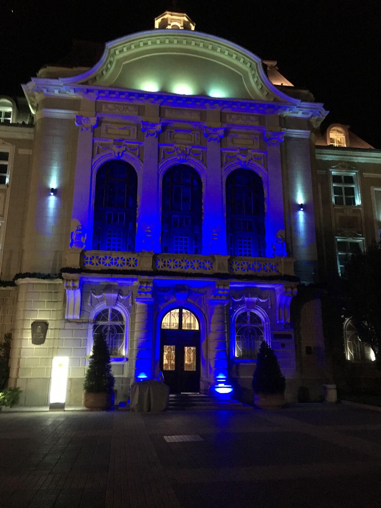 Illuminated Architecture Night City No People Architectural Column