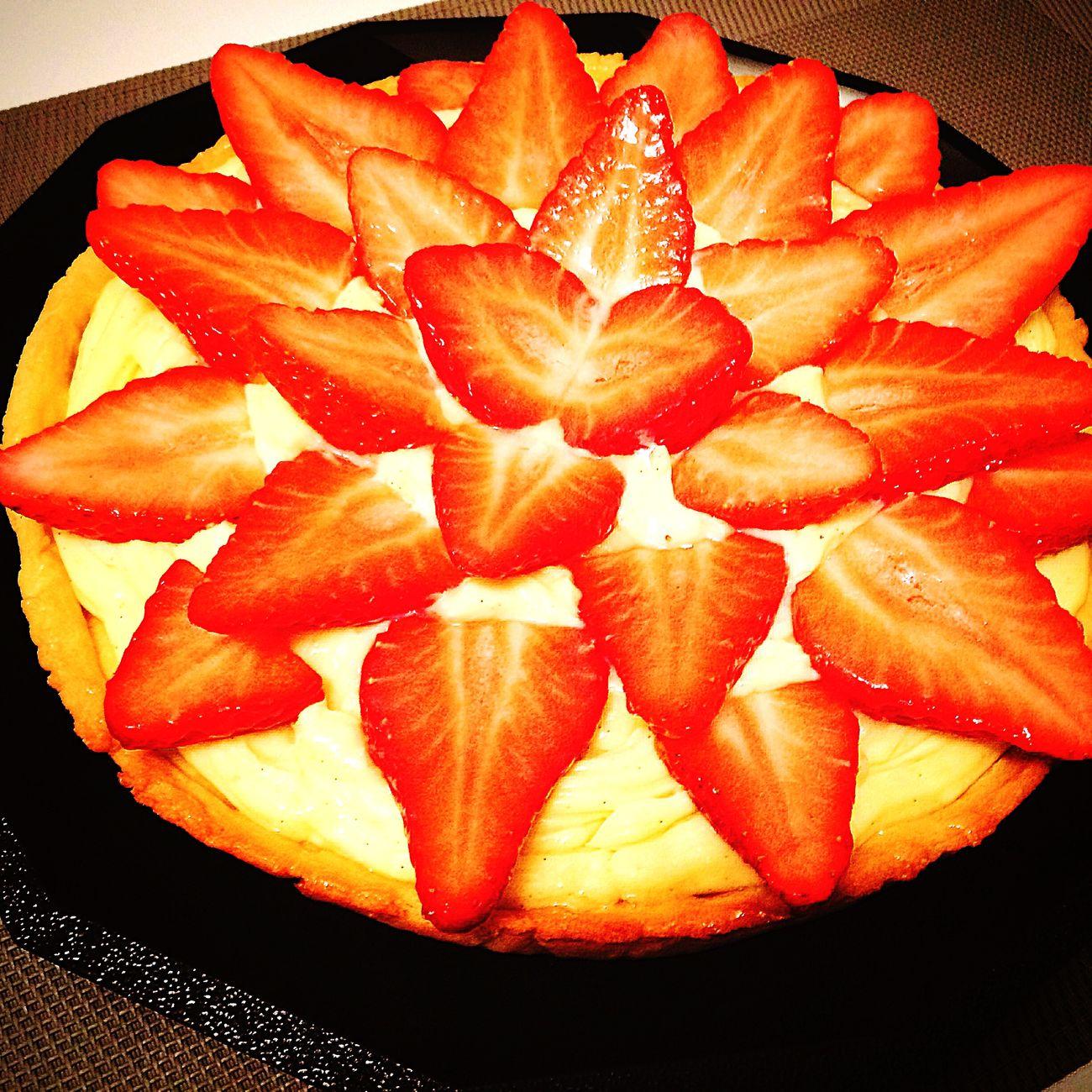 Tarte aux fraises !!! First Eyeem Photo