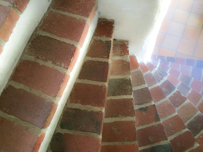 Architectural Feature Architecture Bricks Building Built Structure Day Geometric Shape No People Staircase Sunbeam Sunlight