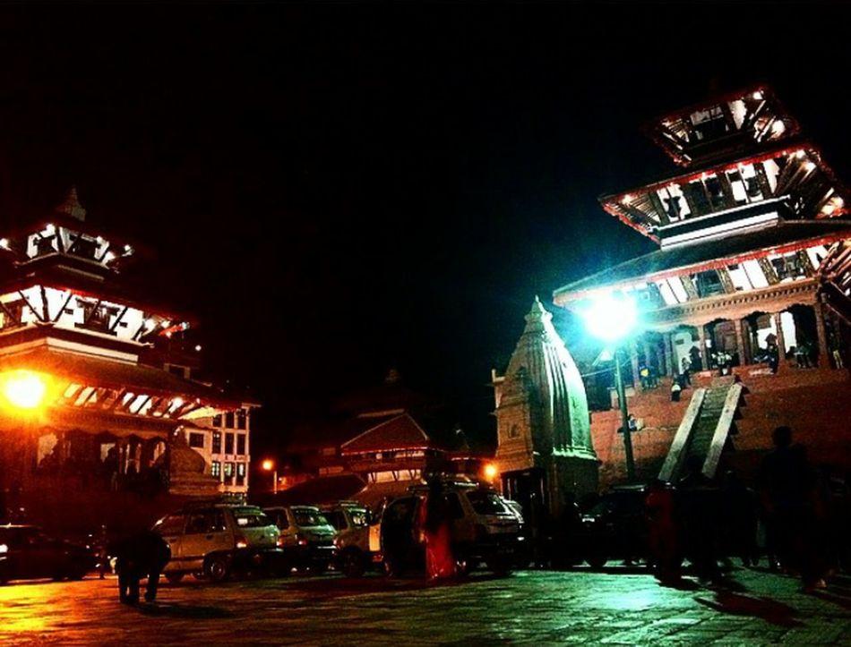 Night Lights Templesquare Basantapur Durbar Square Eyeemphotography