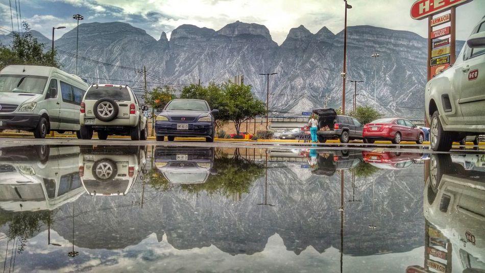 Rain ☔ Mountain Landscape Rain Reflection