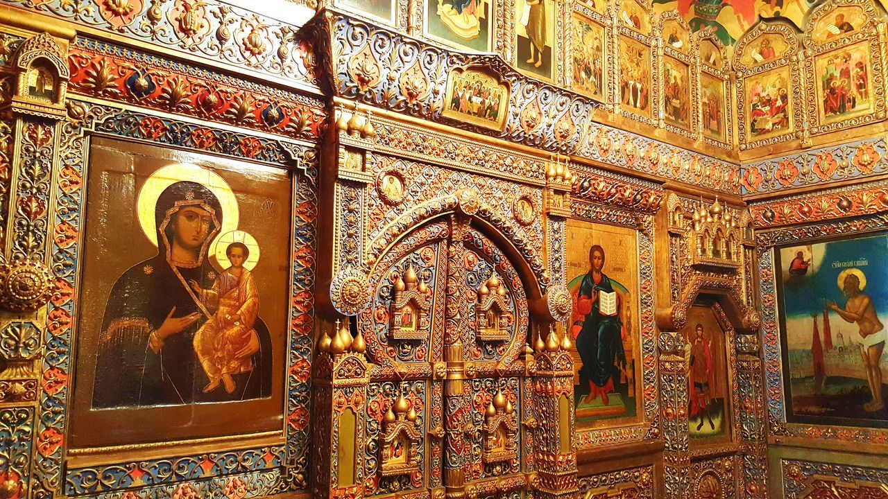 Religion Gold Colored Gold No People Travel Destinations Indoors  Spirituality Place Of Worship Architecture Cathedral St. Basil's Cathedral St. Basil's Cathedral In Moscow Red Square Moscow Russia Inside Inside Photography Orthodox Multi Colored Ortodox Church Orthodox Church Church Red Square