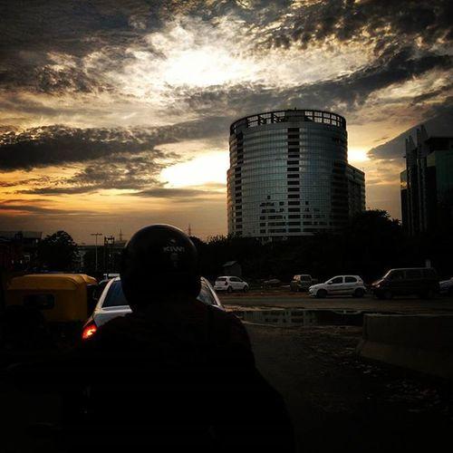 Sharing my click after a long time Gurgaon Evening Sky Instaedit Instapic Splendidshotz India