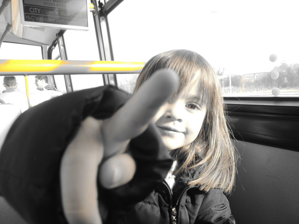 On The Bus Day Trip GoingOut Mode Of Transport On The Bus Pointing Pointing Fingers Pointing The Way Showing Imperfection