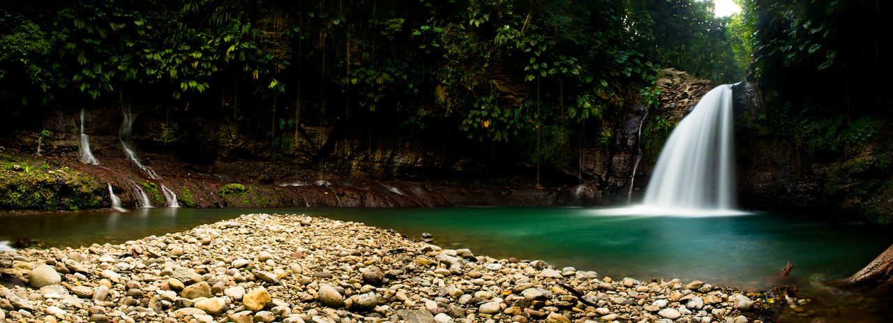 Adults Only Cascade Mountains Guadeloupe Guadeloupe-F.W.I Guadeloupeislands Illuminated Landscape_Collection Landscape_photography Low Angle View Natural Beauty Nature Nature Photography Nature_collection Nature_perfection Naturelovers Naturephotography Nikon Nikonphotography Outdoors Panoramic Landscape Panoramic Photography Stream - Flowing Water Tree Water Waterfall