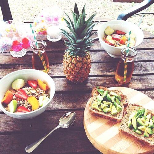 On A Health Kick Breakfast Time 😍 Enjoying The Meal !! ✌