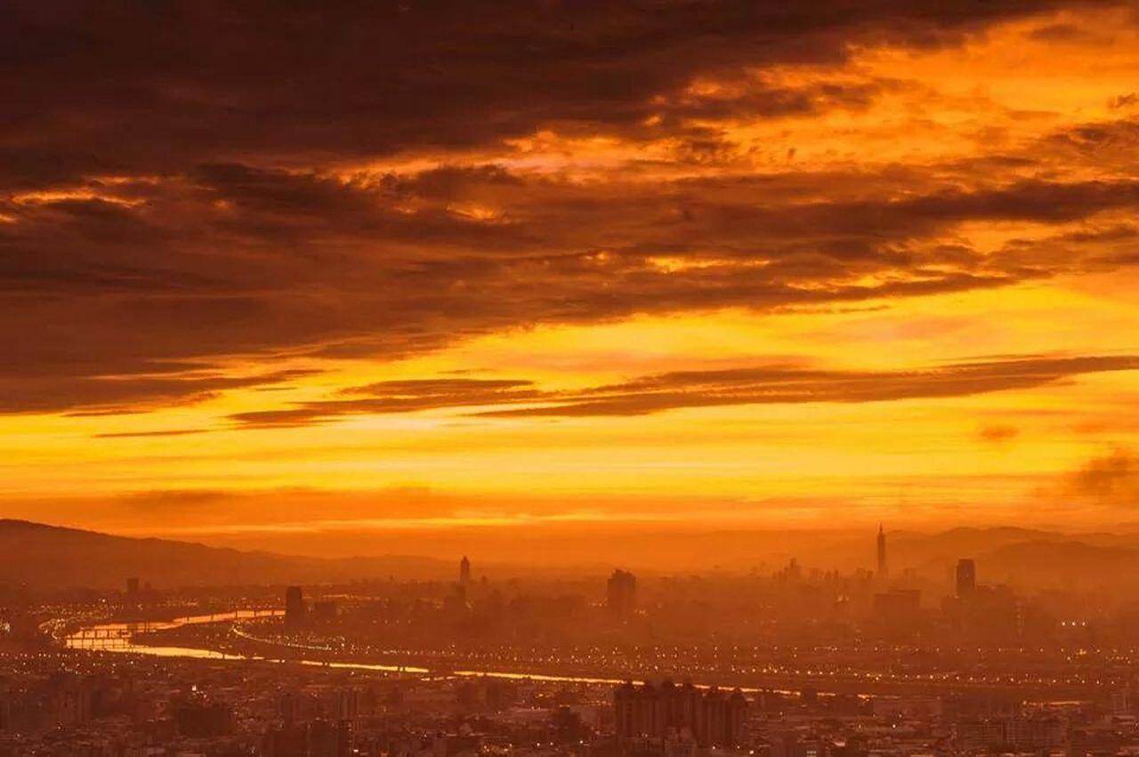 architecture, sunset, city, built structure, orange color, building exterior, cityscape, sky, travel destinations, cloud - sky, no people, outdoors, skyscraper, silhouette, urban skyline, nature, day