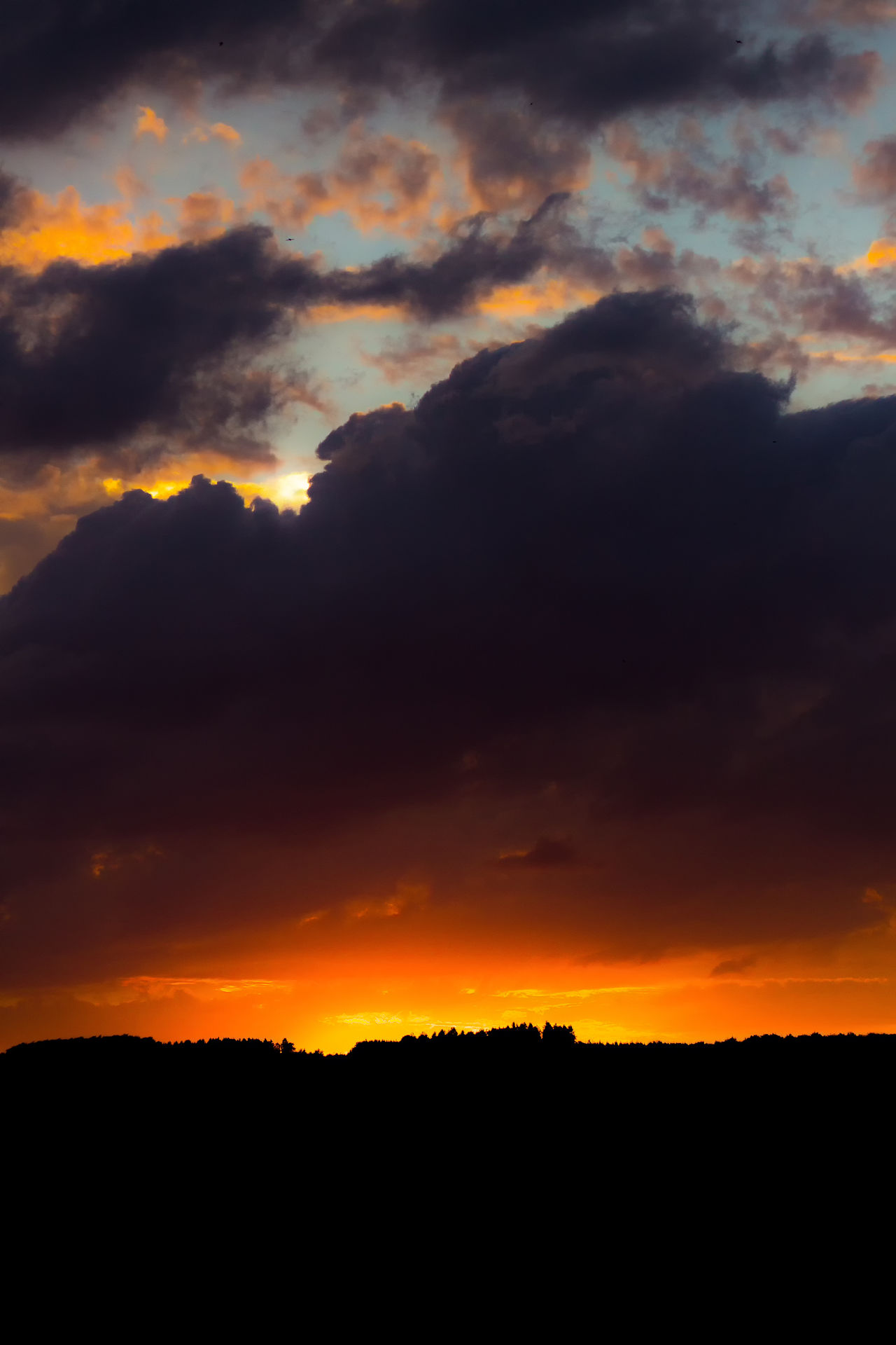 Sunset Beauty In Nature Dramatic Sky Silhouette Sky Nature Orange Color Space And Astronomy Cloud - Sky Scenics No People Natural Phenomenon Astronomy Star - Space Galaxy Outdoors Tree Mountain Constellation Landscape