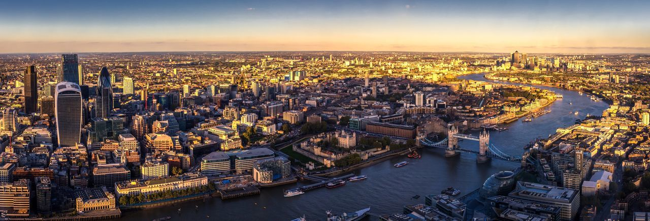 Aerial view of London LONDON❤ Cityscapes City Architecture Travel Destinations Tourism River Thames Tower Bridge  Walkie Talkie Building Canary Wharf No People Panorama United Kingdom Aerial View Boats Banks City Hall Tower Of London Gherkin Tower United Kingdom