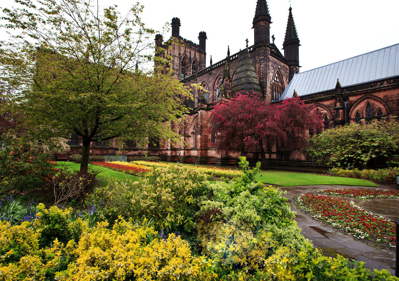 Chester Cathedral in Cheshire is one of the most visited place in Chester by tourists from many countries. England, UK Architecture Beauty In Nature Britain British Building Exterior Built Structure Cathedral Cheshire Chester Day Eye4photography  EyeEm Gallery Flower Flower Head Fragility Freshness Growth Nature No People Outdoors Sky Spring Travel Destinations Tree Uk