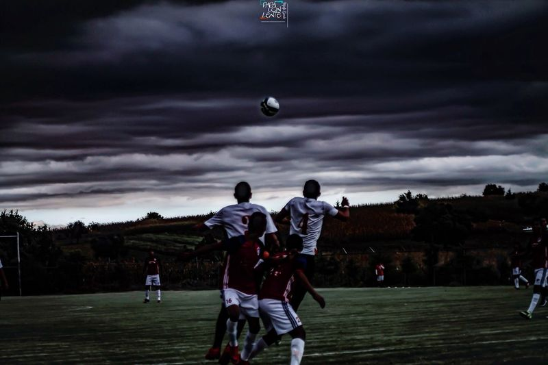 Sky Cloud - Sky Full Length Outdoors Playing Moon Tree Nature People Golf Course Astronomy Soccer Futbol