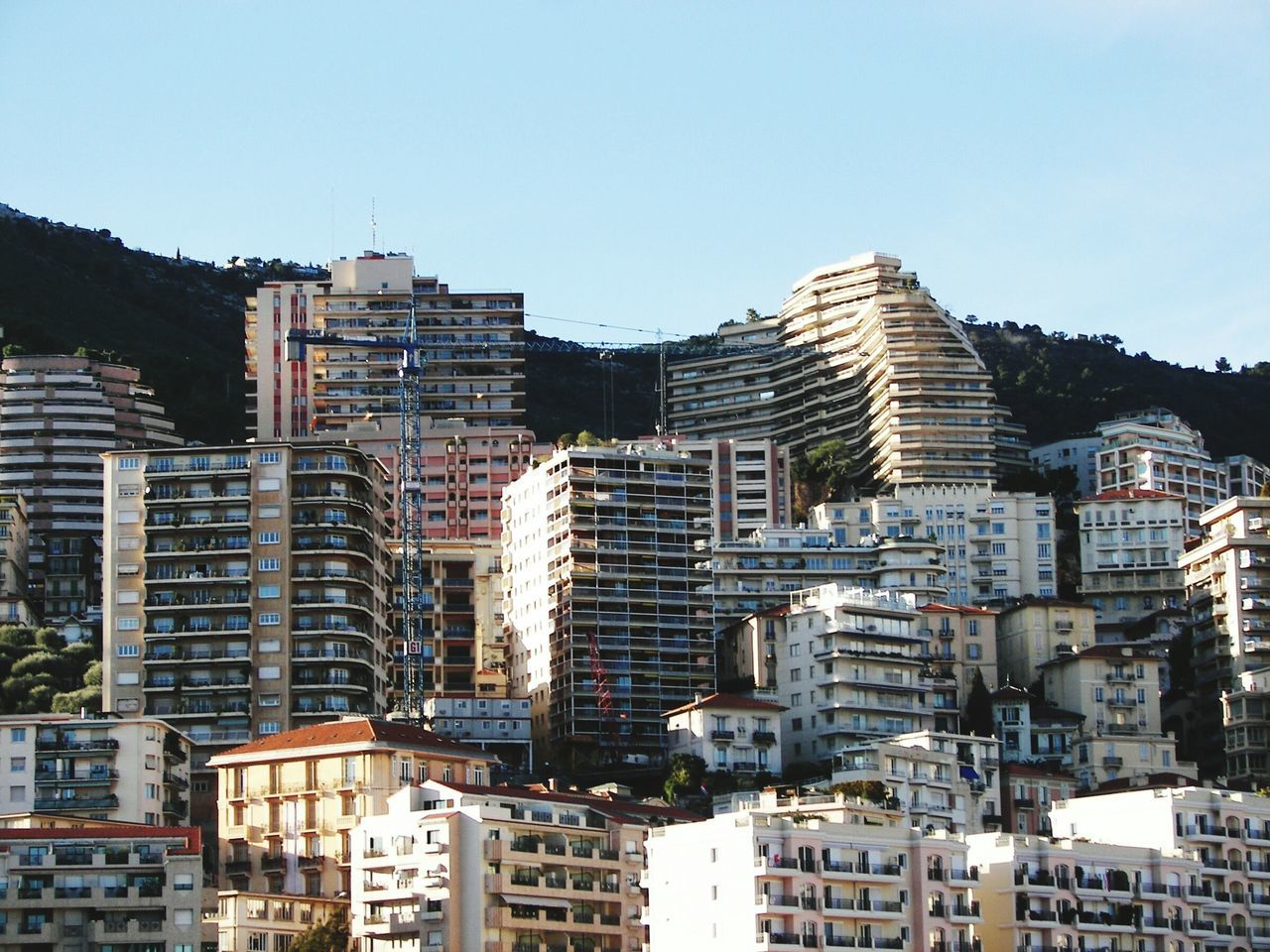 Showcase: February just love this view of Monaco France Building Building And Sky No People Architecture Famous Place Travelphotography Traveling Travel Photography Tranquility Nature Natural Beauty Perspective Day Blue Sky EyeEm Best Shots Outdoors Shadow Apartment Buildings Copy Space Residential Building Residential District Sunny