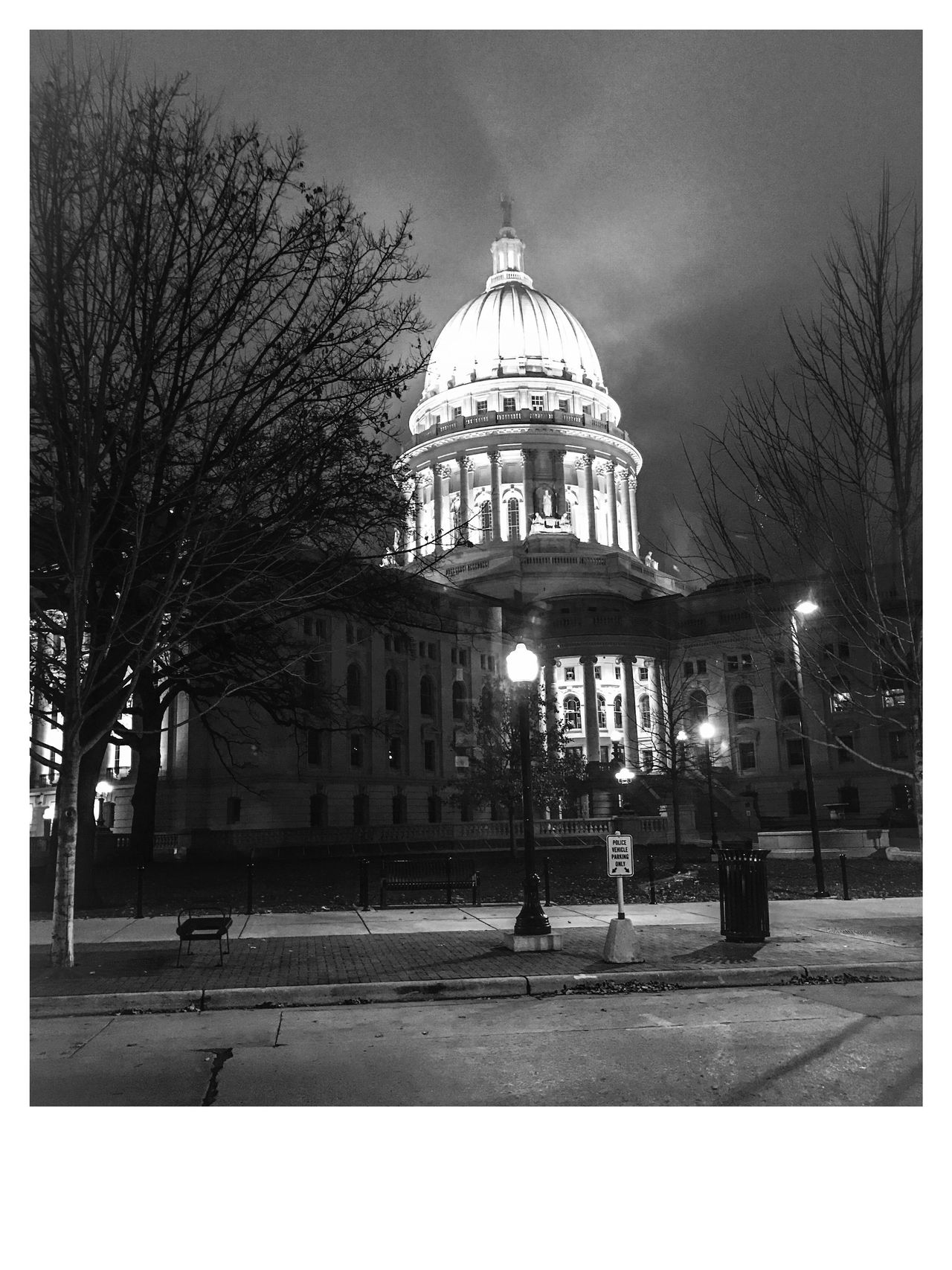 Madison, Wi. State capital Dome Government Architecture Bare Tree Outdoors City Building Exterior