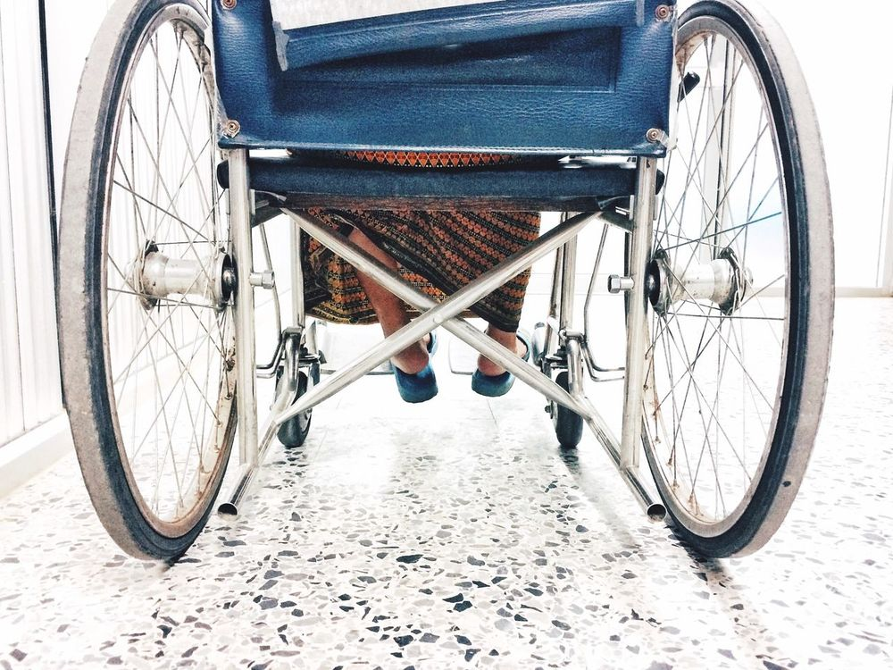 Transportation Wheel Low Section Wheelchair Differing Abilities Outdoors No People Day Tire IPhoneography Close-up Seat SUPPORT Snapseed RNI Film App