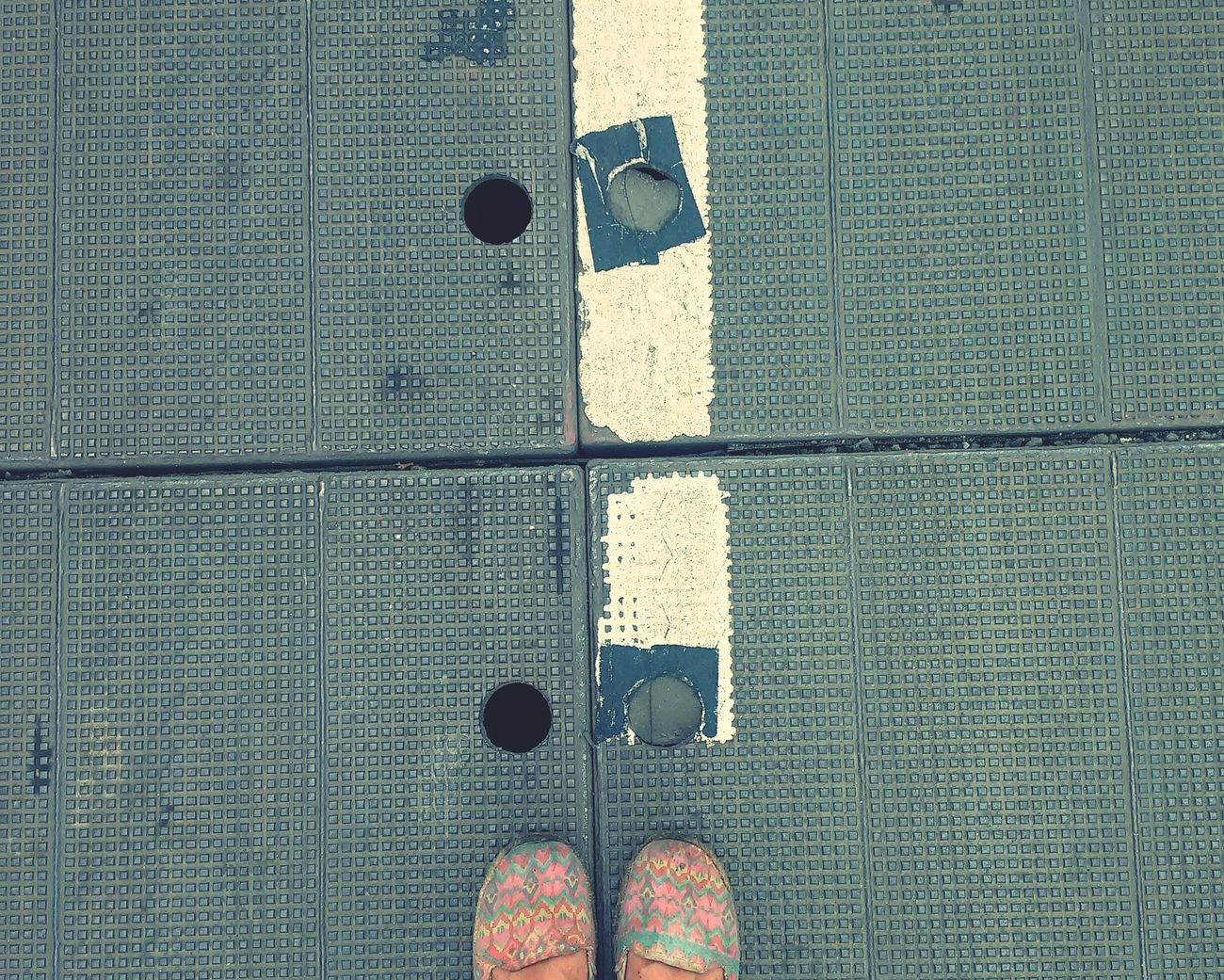 Taking Photos Footpath Road Floortrait