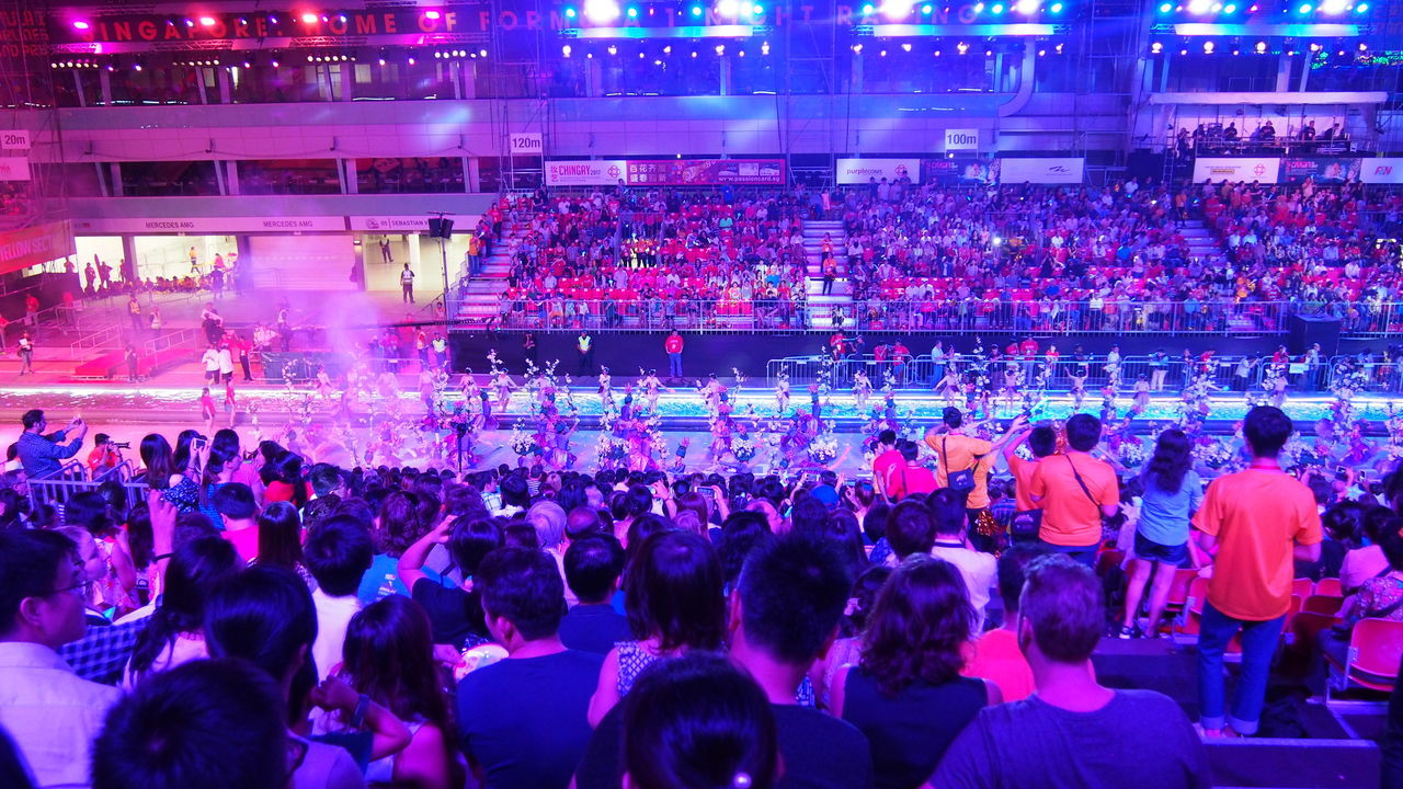 Adult Arts Culture And Entertainment Audience Carnival Chingay Chingay2017 Crowd Dj Festival Large Group Of People Men Music Musician Parade People Performance Singapore Carnival Crowds And Details