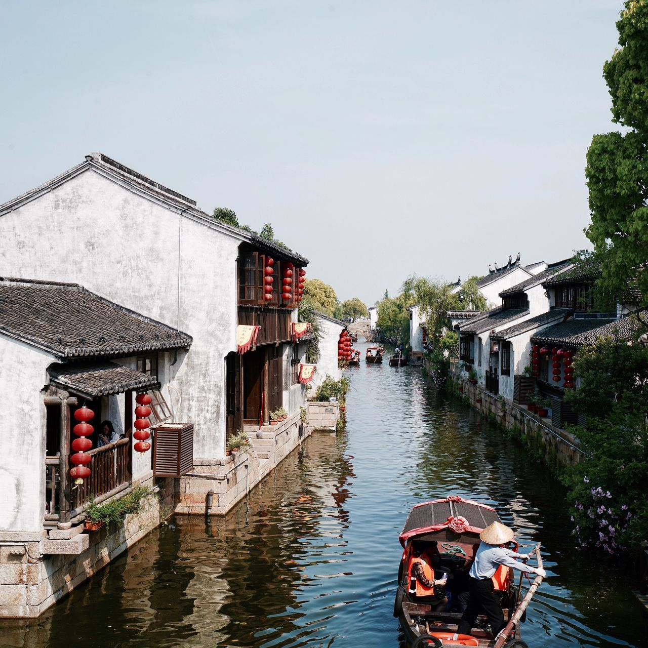 Beautiful stock photos of china,  Boat,  Building Exterior,  Canal,  Changning