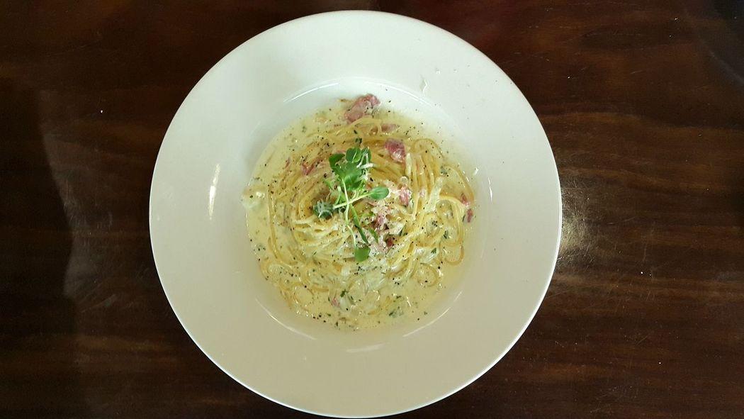 On The Table Pasta Cream Creampasta Cream Pasta Carbonara