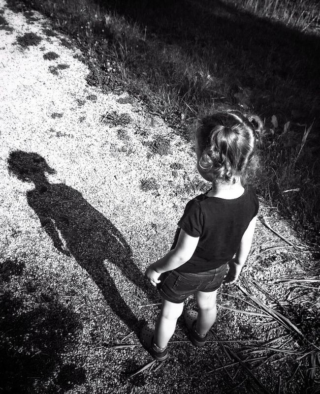Shades Of Grey Shadow My Shadow Who Are You ? Child Learning Inquisitive