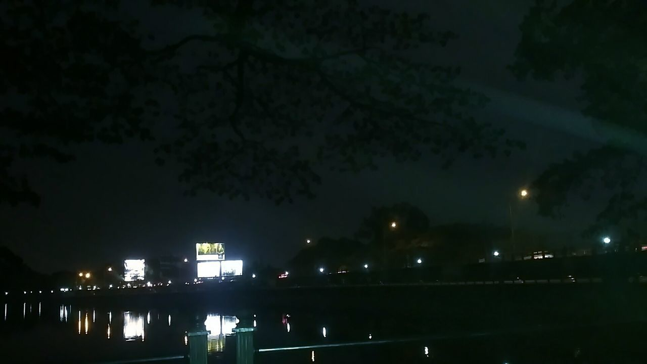 Night Illuminated Reflection Built Structure City Water Sky Outdoors Tree No People Architecture Nature India Sankey Tank Bangalore City Low Angle View Nightlife