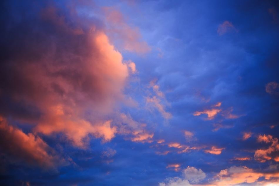 Sky Nature Cloud - Sky Beauty In Nature Sunset Scenics Cloudscape Low Angle View Idyllic No People Backgrounds Tranquility Outdoors Sky Only Day