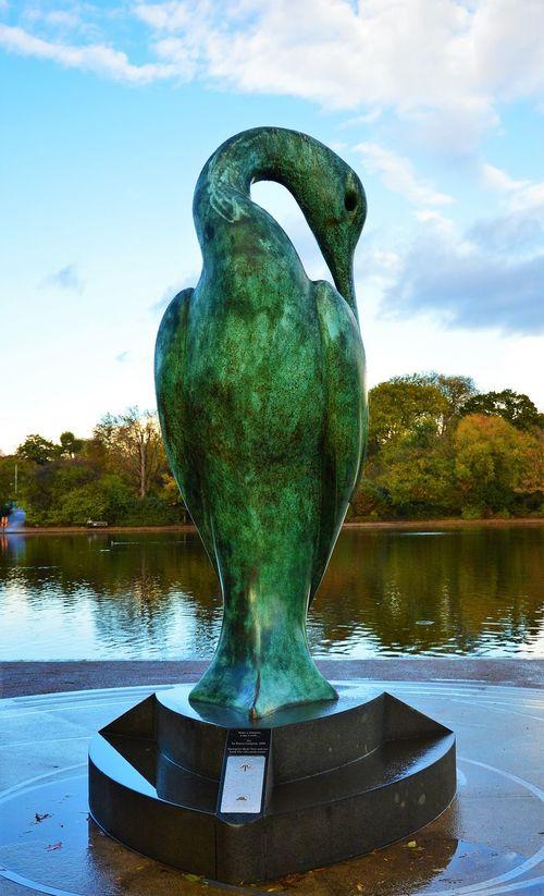 Hyde Park Hydeparklondon SimonGudgeon Bronze Sculpture Nature Birds Lovelondon Londonparks Londonphotography Londonphoto Sunnyday Sunny Day Blue Sky EyeEm LOST IN London Postcode Postcards