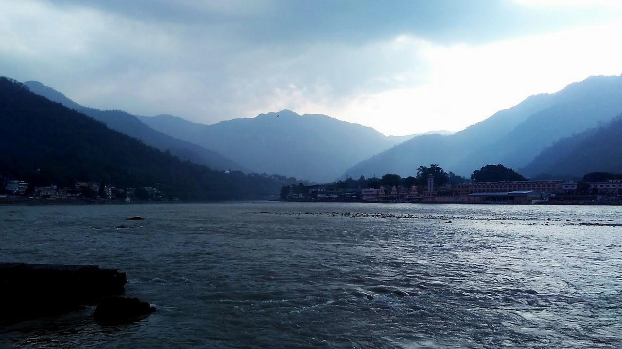 Mountain Landscape Water NatureBeauty In Nature Scenics Waterbody Theganges Rishikesh Ganga River